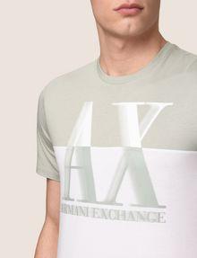 ARMANI EXCHANGE BLURRED BICOLOR LOGO TEE Logo T-shirt Man b