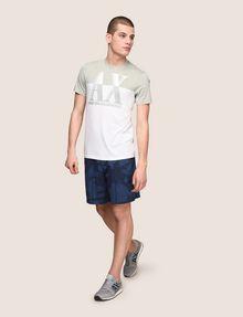 ARMANI EXCHANGE BLURRED BICOLOR LOGO TEE Logo T-shirt Man d