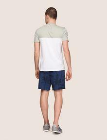 ARMANI EXCHANGE ツートーンカラーロゴTシャツ ロゴTシャツ メンズ e