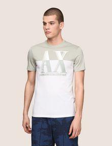 ARMANI EXCHANGE ツートーンカラーロゴTシャツ ロゴTシャツ メンズ f
