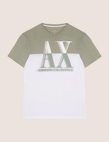 ARMANI EXCHANGE ツートーンカラーロゴTシャツ ロゴTシャツ メンズ r