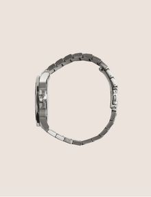 ARMANI EXCHANGE FACETED SILVER-TONED BRACELET WATCH Watch Man a