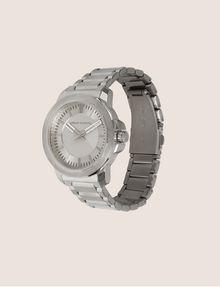 ARMANI EXCHANGE FACETED SILVER-TONED BRACELET WATCH Fashion Watch Man d