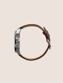 ARMANI EXCHANGE FACETED BROWN LEATHER STRAP WATCH Watch Man a
