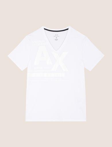 Vネック ロゴTシャツ