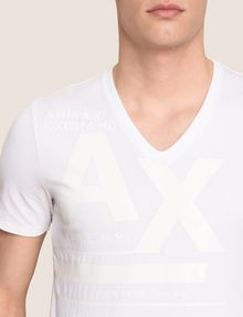 ARMANI EXCHANGE Vネック ロゴTシャツ ロゴTシャツ メンズ b