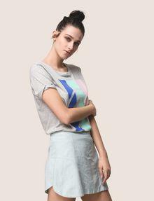 ARMANI EXCHANGE PANELED LINEN-BLEND SKORT Shorts Woman a