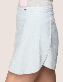 ARMANI EXCHANGE PANELED LINEN-BLEND SKORT Shorts Woman b