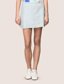 ARMANI EXCHANGE PANELED LINEN-BLEND SKORT Shorts Woman f