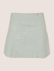 ARMANI EXCHANGE PANELED LINEN-BLEND SKORT Shorts Woman r