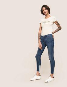 ARMANI EXCHANGE LOW-RISE CONTRAST HEM SUPER-SKINNY JEAN Skinny jeans Woman a