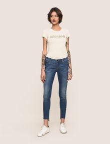 ARMANI EXCHANGE LOW-RISE CONTRAST HEM SUPER-SKINNY JEAN Skinny jeans Woman d