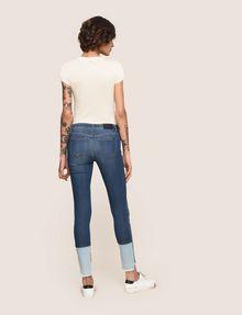 ARMANI EXCHANGE LOW-RISE CONTRAST HEM SUPER-SKINNY JEAN Skinny jeans Woman e