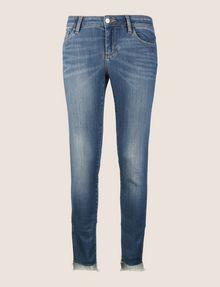 ARMANI EXCHANGE LOW-RISE CONTRAST HEM SUPER-SKINNY JEAN Skinny jeans Woman r