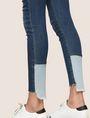 ARMANI EXCHANGE LOW-RISE CONTRAST HEM SUPER-SKINNY JEAN Skinny jeans Woman b