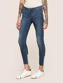 ARMANI EXCHANGE LOW-RISE CONTRAST HEM SUPER-SKINNY JEAN Skinny jeans Woman f