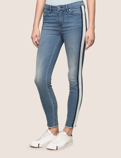CROPPED TAPE DETAIL SUPER-SKINNY JEAN