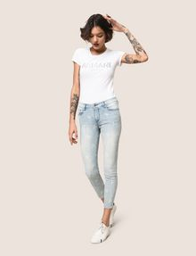 ARMANI EXCHANGE SUNFADE PRINT SUPER-SKINNY CROPPED JEAN Skinny jeans Woman a