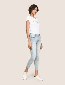 ARMANI EXCHANGE SUNFADE PRINT SUPER-SKINNY CROPPED JEAN Skinny jeans Woman d