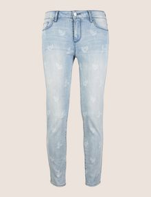 ARMANI EXCHANGE SUNFADE PRINT SUPER-SKINNY CROPPED JEAN Skinny jeans Woman r