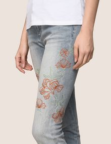 ARMANI EXCHANGE FLORAL EMBROIDERED SUPER-SKINNY JEAN Skinny jeans Woman b