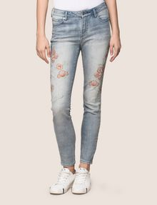 ARMANI EXCHANGE FLORAL EMBROIDERED SUPER-SKINNY JEAN Skinny jeans Woman f