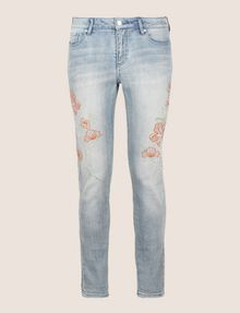 ARMANI EXCHANGE FLORAL EMBROIDERED SUPER-SKINNY JEAN Skinny jeans Woman r