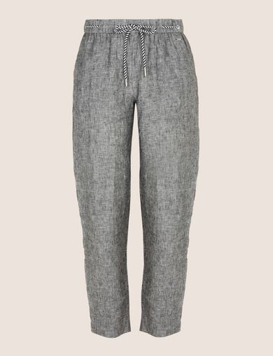 LINEN CHAMBRAY TIE-WAIST PANT