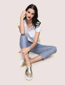 ARMANI EXCHANGE LINEN CHAMBRAY TIE-WAIST PANT Culotte Woman a