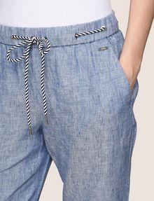 ARMANI EXCHANGE LINEN CHAMBRAY TIE-WAIST PANT Culotte Woman b