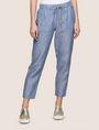 ARMANI EXCHANGE LINEN CHAMBRAY TIE-WAIST PANT Culotte Woman f