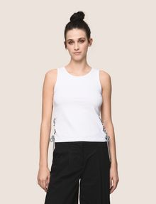ARMANI EXCHANGE SIDE-LACE TANK TOP S/L Knit Top Woman f