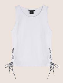 ARMANI EXCHANGE SIDE-LACE TANK TOP S/L Knit Top Woman r