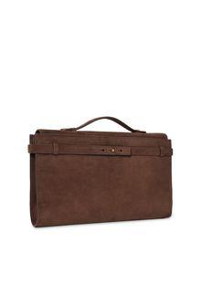ALBERTA FERRETTI Brown handbag. SUEDE BAG Woman d