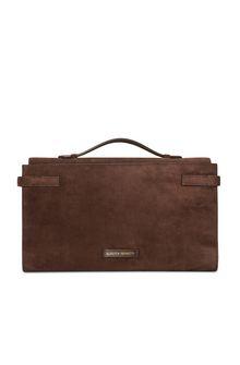 ALBERTA FERRETTI Brown handbag. SUEDE BAG Woman e