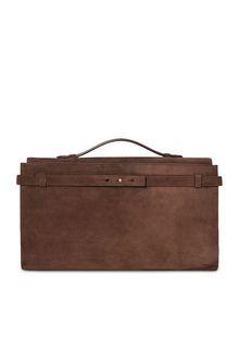 ALBERTA FERRETTI Brown handbag. SUEDE BAG Woman f