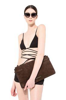 ALBERTA FERRETTI Brown handbag. SUEDE BAG Woman r
