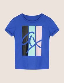 ARMANI EXCHANGE TRICOLOR STRIPE LOGO TEE Logo T-shirt Woman r
