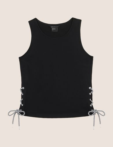 SIDE-LACE TANK TOP