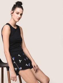 ARMANI EXCHANGE SIDE-LACE TANK TOP S/S Knit Top Woman a
