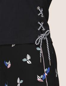 ARMANI EXCHANGE SIDE-LACE TANK TOP S/S Knit Top Woman b