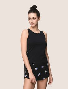 ARMANI EXCHANGE SIDE-LACE TANK TOP S/S Knit Top Woman f