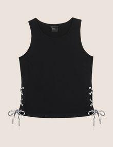 ARMANI EXCHANGE SIDE-LACE TANK TOP S/S Knit Top Woman r