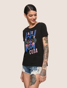 ARMANI EXCHANGE TROPICAL PLANT CUBA LOGO TEE Logo T-shirt Woman a