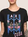 ARMANI EXCHANGE TROPICAL PLANT CUBA LOGO TEE Logo T-shirt Woman b