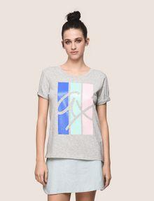 ARMANI EXCHANGE TRICOLOR STRIPE LOGO TEE Logo T-shirt Woman f