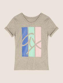 ARMANI EXCHANGE TRICOLOR STRIPE LOGO TEE Logo T-shirt Woman r