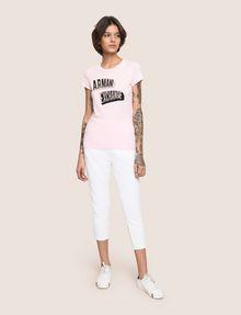 ARMANI EXCHANGE BILLBOARD SEQUIN LOGO TEE Logo T-shirt Woman d