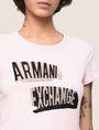 ARMANI EXCHANGE BILLBOARD SEQUIN LOGO TEE Logo T-shirt Woman b