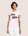ARMANI EXCHANGE BILLBOARD SEQUIN LOGO TEE Logo T-shirt Woman f